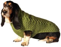 Sage Green Cable Dog Sweater *** Don't get left behind, see this great dog product   Dog sweaters