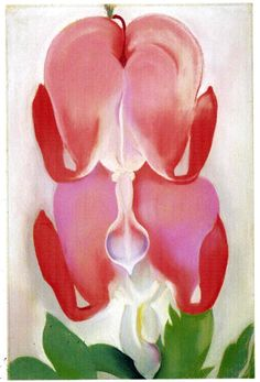 Georgia O'Keeffe: Bleeding Heart, 1932 Her painting were so small and sexual to look at that I know Freud would of loved her.