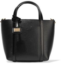Dolce  Gabbana Mini textured-leather tote  - Dolce  Gabbana black…