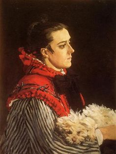 Camille with a Small Dog - Claude Monet, 1866