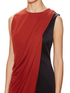 Draped Colorblocked Shift Dress from Jason Wu
