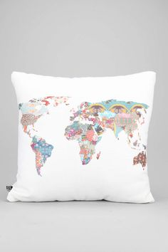 Bianca Green For DENY Louis Armstrong Told Us So Pillow, world map pillow for decor in trailer rv retro camper