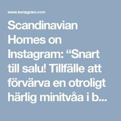 """Scandinavian Homes on Instagram: """"Snart till salu! Tillfälle att förvärva en otroligt härlig minitvåa i bästa skick med solig terrass. Kontakta…"""" • Instagram"""