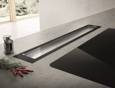 Glass downdraft SEE YOU by Elica design Fabrizio Crisà