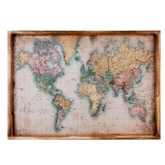 Image for canvas world map from kmart kmart living pinterest schilderij wereld gumiabroncs Choice Image