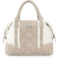 Bags · Charles Jourdan Kavit Two-Tone Snake-Embossed Leather Satchel Bag   198 (40% d2ef2f08c22ac