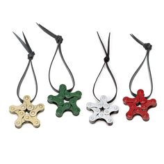 Link a love of cycling and recycling by decking the halls and the tree with this one-of-a-kind ornament trio.