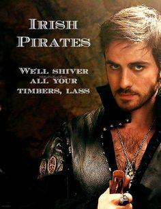 IRISH PIRATES--simply the best #Irishmen #ColinODonoghue Colin O'Donoghue #pirates #OUAT #OnceUponATime #CaptainHook