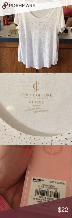 ✨SALE TODAY ONLY✨Juicy Couture gold foil dots top New with tags! Juicy Couture Tops Tees - Short Sleeve