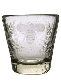 Etched Bee Glass Tumbler