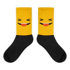 Yellow Face With Stuck Out Tongue And Tightly Closed Eyes Black foot socks What Awesome Socks! To buy NOW visit https://whatdevotion.com/shop/mens-clothing/yellow-face-with-stuck-out-tongue-and-tightly-closed-eyes-black-foot-socks/  ==> Tag friends who would love this one ;) Don't Forget to Like/Share to receive our promotions !!