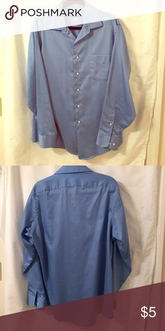 Geoffrey Beene Dress Shirt Geoffrey Beene fitted business shirt. Wrinkle free. Size 16 1/2, 34/35. French Blue in color. Geoffrey Beene Shirts Dress Shirts