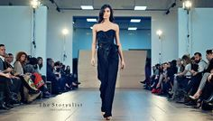 Prefall 16 black jumpsuit runway model