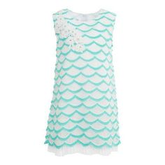 Your darling will love to flaunt her style in girls' aqua lace dress from the Fashion Playground. This dress is sure to enhance your little princess's look. Girls Lace Dress, Girls Dresses, Summer Dresses, Made Clothing, Little Doll, Little Princess, Her Style, Floral Lace, Playground