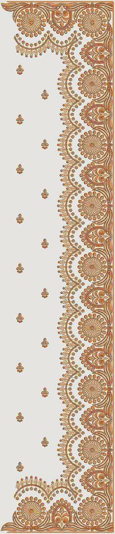 swaar borduurwerk C-Pallu Saree