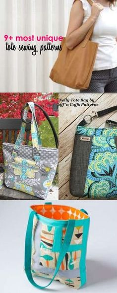 Swoon Ethel Tote Bag FREE Sewing Pattern and Tutorial | Patterns for ...
