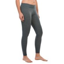 SmartWool NTS 250 Pattern Base Layer Bottoms - Merino Wool (For Women) in Sea Pine Heather - Closeouts