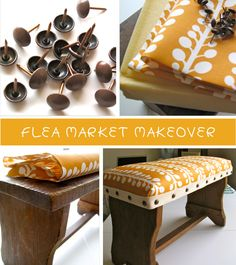 Footstool makeover....so cute!