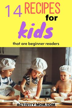Get your kids in the kitchen with these recipes for kids. These free printable recipes are perfect for beginning readers.