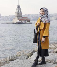 😍 🌱 Gidip gelmelerde gelen taraf ol dostum Modern Hijab Fashion, Abaya Fashion, Muslim Fashion, Modest Fashion, Girl Fashion, Fashion Muslimah, Casual Hijab Outfit, Hijab Chic, Casual Outfits
