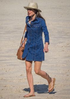 June 2015 - Longines Athina Onassis Horse Show Sport Outfits, Cool Outfits, Casual Outfits, Princess Charlotte Of Monaco, Dress With Jean Jacket, She Walks In Beauty, Estilo Real, Looks Chic, Street Style Summer