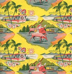 """1950sunlimited: """" Vintage Wrapping Paper…I do believe there is nothing cooler. """""""