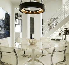 Modern and Elegant Dining Room Interior Design of Space-Age Chic by Gary Hutton, San Francisco