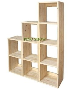 Biblioteca Cubo En Pino - $ 899,90 Smart Furniture, Pallet Furniture, Home Furniture, Furniture Design, Home Office Design, Home Interior Design, Panel Divider, Cube Organizer, Home Renovation