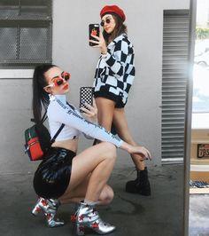 negron Sydney & Devon Carlson from Wildflower cases in head to toe Dolls Kill! 90s Fashion, Fashion Outfits, Womens Fashion, Fashion Trends, Fashion Vintage, Lolita Fashion, Fashion Clothes, Fashion News, Goth Outfit