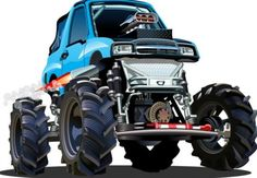 Cartoon sport utility vehicle vector 06