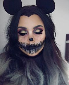 A amazing idea for a Halloween face. just gave me one A amazing idea for a Halloween face. just gave me one The post A amazing idea for a Halloween face. just gave me one appeared first on Halloween Makeup. Minnie Halloween, Cute Halloween Makeup, Last Minute Halloween Costumes, Halloween Makeup Looks, Scary Halloween, Visage Halloween, Maquillage Halloween Simple, Helloween Make Up, Scary Eyes