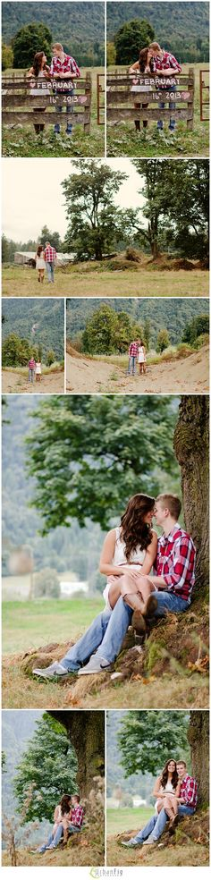 madly in love with this #countryengagementsession  #weddingdateonfencechalk