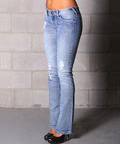 Look at this #zulilyfind! Lola Jeans Light Wash Adele Bootcut Jeans by Lola Jeans #zulilyfinds