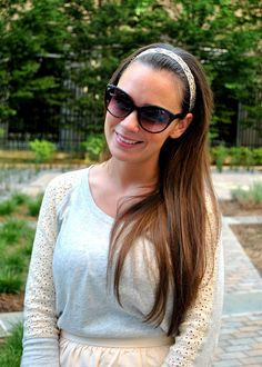 Our Aurora Headband worn by Currently Coveting's beautiful Erin Haberman!
