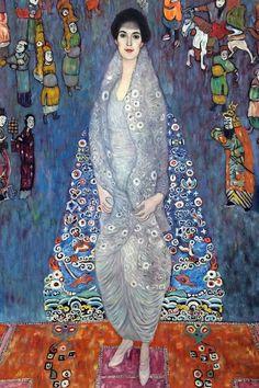 Gustav Klimt, Retrato de la baronesa Elisabeth Bachofen-Echt - Pintura al óleo pintada a mano en . - Gustav Klimt, Retrato de la baronesa Elisabeth Bachofen-Echt – Pintura al óleo pintada a mano sob - Art Beauté, Klimt Art, Art Moderne, Oil Painting On Canvas, Oeuvre D'art, Art Nouveau, Art Projects, Art Gallery, Artsy