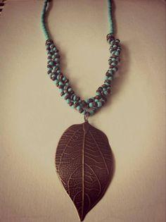 Collar Hoja Ref. C.H021//