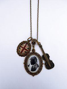 Sherlock Holmes Cluster Necklace by BaroquenChord on Etsy