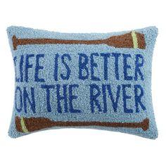 Peking Handicraft Life Is Better On The River Wool Lumbar Pillow