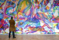 carnovsky installation 4 RGB Murals that Transform under color filters by Carnovsky upper playground rgb painting optical illusion milan installation illusion filter color filter carnovsky