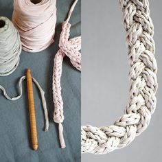10 t-shirt yarn projects | DIY tshirt yarn chord or necklace | Mollie Makes