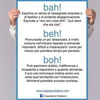 Le interiezioni bah, beh e boh. #learningitalian #learnitalian…