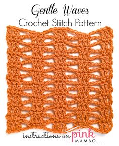 If you've crocheted for a while, then you probably have a few tried-and-true crochet stitches that you use over...and over...and over in every single project that comes your way. Are you ready to move on by learning something new? The Gentle Waves Crochet Stitch Pattern is just the thing to learn if you want to include a neat variation in your next crochet pattern. The pattern can be used to crochet scarves and other similar items, so consider trying out this new design the next time a cu...
