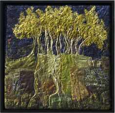 Lorraine Roy - Aspen Close .... individual pieces of fabric with machine stitching... not sure what other techniques!