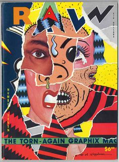 """The front cover of the magazine """"Raw"""" by Art Spiegelman."""