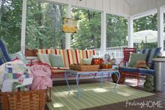 screened porch decorating ideas | Visit findinghomeonline.com