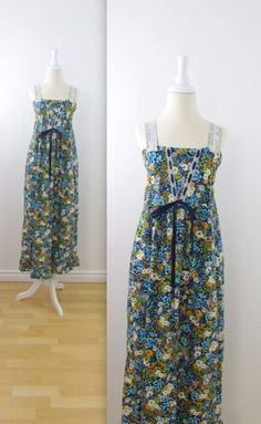 #Vintage #1970s Boho Wildflower Sundress by TwoMoxie