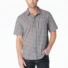 Arrow SS Shirt- The prAna Arrow Short Sleeve Shirt is a 55% organic cotton shirt that takes aim at a sustainable lifestyle. A modern slim fit creates a comfortable natural shape.