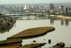 Una vista aérea de Bagdad el 18 de marzo de 2008 en Irak