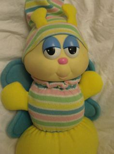 Vintage Glo Bug Globug 1984 Hasbro Light Up Glow Worm Glo Plush Retro Baby, Favorite Pastime, Just For Fun, Good Old, Worms, Vintage Toys, Childhood Memories, Light Up, Bugs