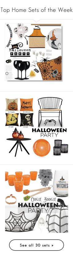 """""""Top Home Sets of the Week"""" by polyvore ❤ liked on Polyvore featuring interior, interiors, interior design, home, home decor, interior decorating, Pier 1 Imports, Crate and Barrel, polyvoreeditorial and Halloweenparty"""